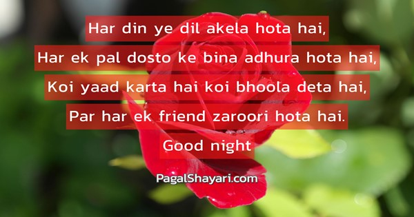 Har din ye dil akela hota hai, English Love Shayari and